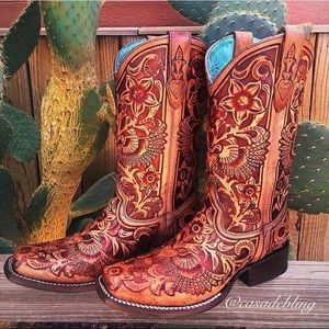 Tooled Corral Boots - NEW